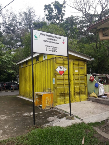 Temporary Storage for Hazardous Waste from Faculty of Dentistry USU Dental Hospital