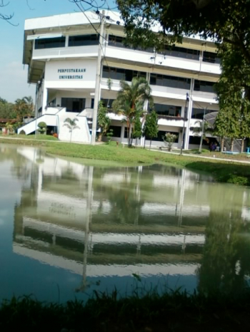 Example of water pond at USU Campus (Near Central Library)