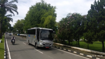 A bus on an operation at campus