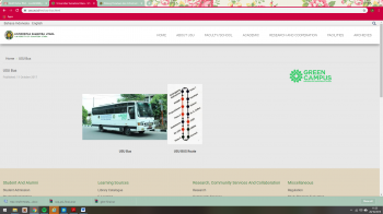 Shuttle bus system service is available at the Universitas Sumatera Utara
